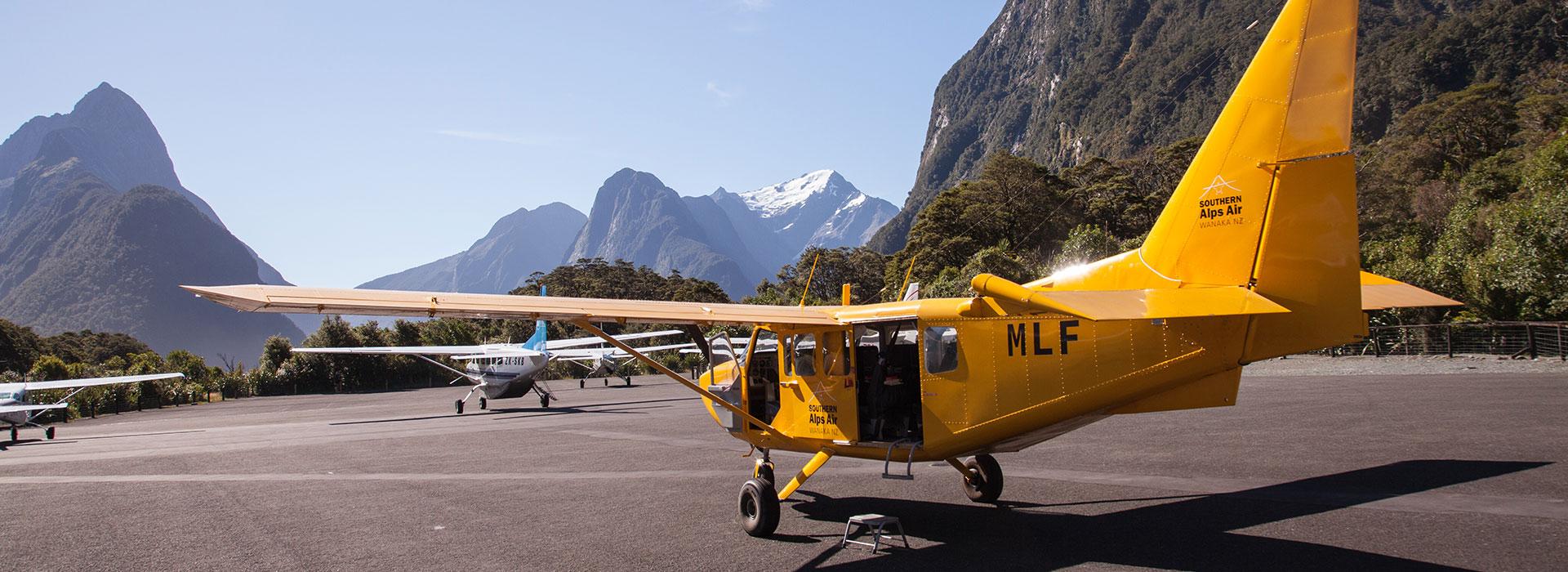 Milford Sound Flight + Landing & Glaciers $399pp (was $515)