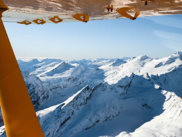 glaciers and mt aspiring on a scenic flight from milford sound to wanaka with southern alps air