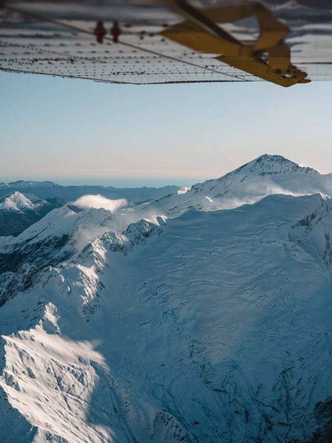 Scenic Flight around Mt Aspiring in Wanaka, New Zealand. With Southern Alps Air